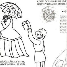 AtLiGa - Képgaléria - Faliújság - Március 15. Techno, Diy And Crafts, Snoopy, Comics, Fictional Characters, March, Easter, Spring, Image