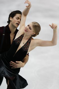DAY 11:  Kaitlyn Weaver and Andrew Poje of Canada compete during Figure Skating Ice Dance Free http://sports.yahoo.com/olympics