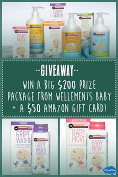 Is your baby suffering from constipation? Here are 5 tips for relieving baby constipation plus an exciting giveaway from Wellements Baby! Super easy to enter! Enter here:  http://cloudmom.com/baby-basics/5-tips-for-relieving-baby-constipation/