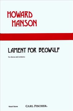 Lament for Beowulf (Piano Reduction/Vocal Score)