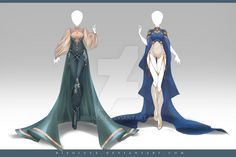 (OPEN) Adoptable Outfit Auction 217 - 218 by Risoluce.deviantart.com on @DeviantArt