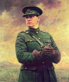 Michael Collins by Leo Whelan- Contemporary History, Political Beliefs, Michael Collins, Man Cave Bar, Irish Art, Donegal, My Heritage, Ireland, Fine Art Prints