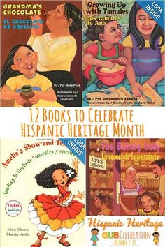 These great 12 Books can help students learn more about Hispanic Heritage Month and celebrate it as well.