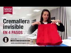 Tutorial: Cremallera invisible en 4 sencillos pasos - ASUN DOMINGUEZ ACADEMIA - YouTube Sewing Hacks, Sewing Projects, Couture, Sewing Techniques, Sewing Patterns, Academia, Clothes, Zipper Tutorial, Education