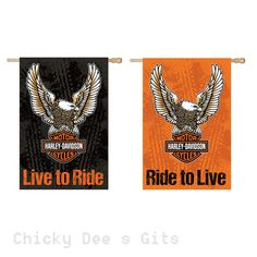 Evergreen Harley Davidson Eagle Garden Flag 14s4907fb NEW 2 diff sides