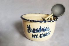 Grandma's Ice Cream Bowl RRP Style Pottery by FondestMemories