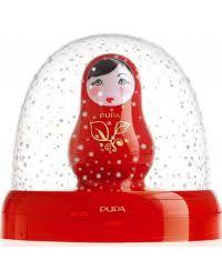 Matryoshka doll snow globe