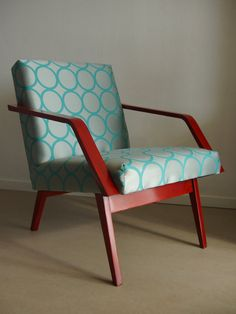 Red mahogany vintage chair from Czech Republic $400.00