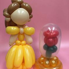 Belle and rose balloons