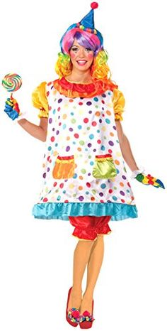 [Halloween Costumes Women] Forum Novelties Women's Wiggles The Clown Costume, Multi, Standard -- You can find out more details at the link of the image. (This is an affiliate link) Cute Clown Costume, Clown Costume Women, Clown Halloween Costumes, Circus Costume, Halloween Fancy Dress, Halloween Kostüm, Baby Costumes, Adult Costumes, Costumes For Women