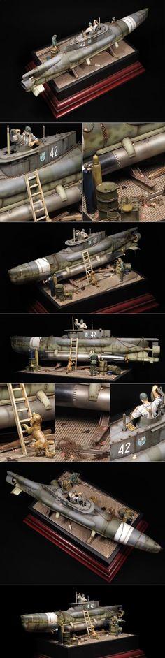 "German ""Seehund"" (Mini submarine type XXVII):"