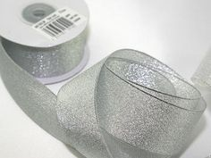 38mm Silver Plain Lurex Metallic Christmas Ribbon - 10 metre roll Preview