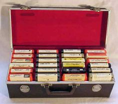 Funny... 8 track tapes and the carry case to carry them all and that was cool