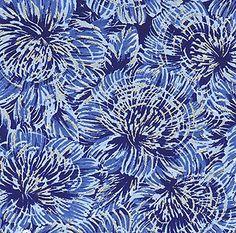 JaponskaZahrada / Handmade art papier - Veľké modré chryzantémy