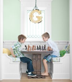 chess table these light green walls painted dkc 46 by donald kaufman