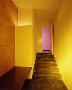 Casa Barragan. Luis Barragan. Mexico City 1948  entry with volcanic stone  introduce international style to mexico after visiting mies