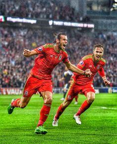 Gareth Bale and Aaron Ramsey Wales