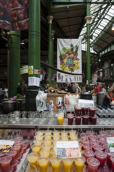 Fruit Juice Stall, Borough Market, London-Best saturday day spend!