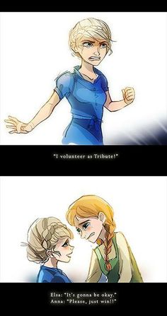 Elsa and Anna as Katniss and Prim!FEELS ♥♥♥