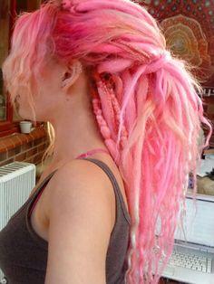 Beautiful pink dreads!