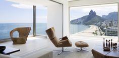 Apartamento RS is a minimalist house located in Rio de Janeiro, Brazil, designed by Studio Arthur Casas Studio Arthur Casas, Sala Grande, Living Area, Living Room, Apartment Projects, Piece A Vivre, Holiday Apartments, Architecture Design, Suites