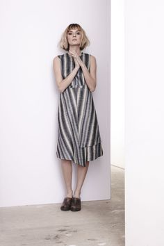 Linen Stripe Marlowe Dress  www.comrags.com