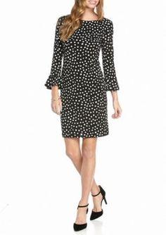 Laura Jeffries  Polka Dot Printed Shift Dress