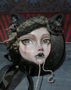 By Sam Crow Creature 3d, 3d Illustrations, Nine Lives, Curious Creatures, Crow, Art Dolls, Halloween Face Makeup, Drawings, Raven