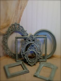 Upcycled Duck Egg Blue Frame Collection by EdenCoveTreasures Blue Home Decor, Bedroom Furnishings, Gold Frame, Frame Collection, Wedgwood Blue, Interior Design Trends 2015, Blue, Blue Accents, Duck Egg Blue Frame