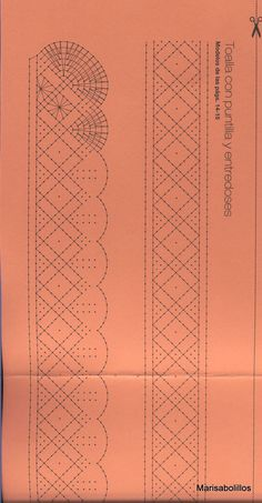 renda de bilros / bobbin lace esquemas / patterns - from Álbumes web de Picasa picasaweb.google.com Bobbin Lace Patterns, Weaving Patterns, Crochet Books, Crochet Lace, Doily Art, Bobbin Lacemaking, Crochet Curtains, Quilt Border, Lace Heart
