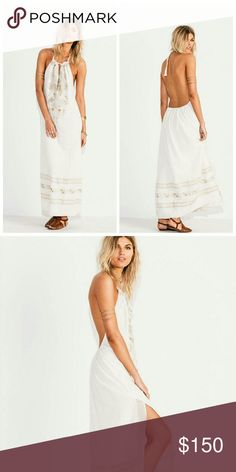"(Free People) ""Jen's Pirate Booty"" JULIET HALTER DRESS  Retail $275 Size 2  This product is no longer available.   Lightweight cotton maxi dress featuring allover beautiful tribal embroidery detailing and an adjustable halter neck with a plunging neckline.  Low back with an elastic band for an easy fit and exaggerated slit detailing on both sides.  Lined.  Jen's Pirate Booty  100% Cotton Hand Wash Cold Import Free People Dresses Maxi"