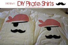 No Sew Pirate shirt tutorial from www.mommymade.blogspot.com