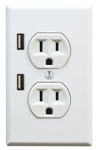 This socket takes USB powered gadgets into consideration. In addition to the standard three prong outlets, it features two USB charge ports perfect for charging gadgets like iPhone, iPods and many other MP3, media players and virtually any gadget that uses a USB cable for charging.