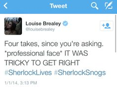 SPOILERS Louise Brealey on filming the Sherlolly kiss....oh honey, I would've required AT LEAST ten takes ;)