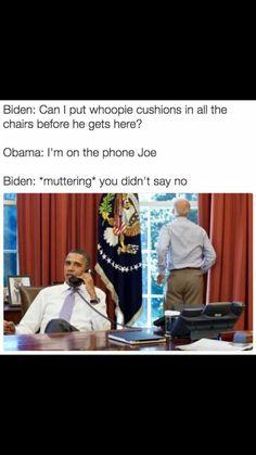 A roundup of the best memes showing Barack Obama and Joe Biden& imagined conversations about pranking Donald Trump. Satire, Barack Obama, Divorce, Obama And Biden, Joe Biden, Biden Obama Memes, Funny Quotes, Funny Memes, Funniest Memes
