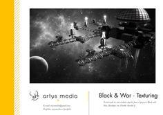 https://flic.kr/p/zeS3q2 | Black & War · Texturing 36 | Texturizado de Nave minera vertical y horizontal: cuatro Scyllas pasan delante de ellas mientras cinco Navigator aterrizan. Para el proyecto Black and War en Unity 3D. Diseñado con Trimble SketchUp.
