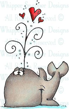 Baby Beluga - Sealife - Animals - Rubber Stamps - Shop 349 x 550