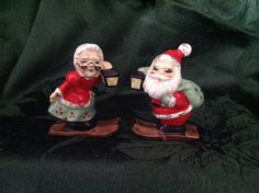 Mr. & Mrs. Claus....a gift from my piano teacher, Mrs. Sparks, in 1968.