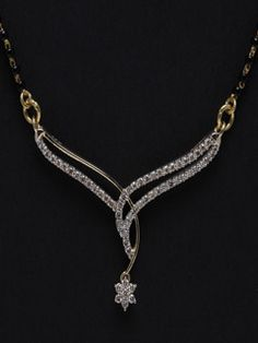 Exquisite And Dazzling Diamond Mangalsutra For World's Best Wife. Let This Be Your Souvenir Of Love. Diamond Necklace Set, Diamond Jewelry, Gold Jewelry, Diamond Pendant, Men's Jewellery, Designer Jewellery, Antique Jewellery, Gold Bangles, Jewlery