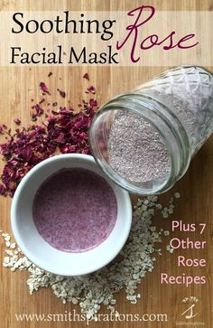 """Oats also provide a bit of gentle exfoliation, along with soothing emollient properties. Rose petals lend their anti-inflammatory and astringent actions while imparting a wonderful scent. This really is a lovely mask to use when you want something simple yet luxurious for your face!"":"