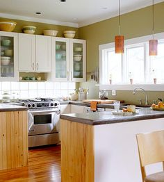 Reface Your Cabinets  It's much cheaper than buying new cabinets, and it gives your kitchen a fresh look.