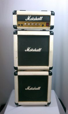 Marshall 3005 Lead 12 Micro Stack Mini Stack White (Solid State) Guitar Amp #Marshall