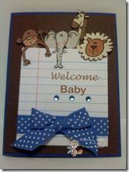 A baby Card using Bugaboo $1 digis