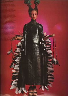 Penelope Tree by David Bailey for Vogue Italia, 1970. Makeup by Serge Lutens. Hair by Aldo Coppola. S)