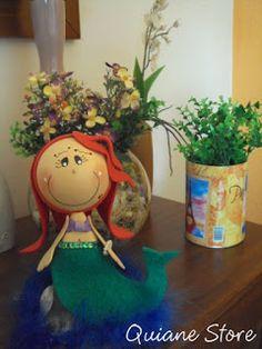 ARTE COM QUIANE -  Minha Boneca Ariel com Cauda