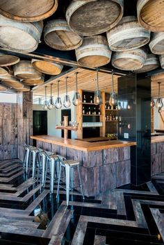 Glamorous and exciting bar decor. See more luxurious interior design details at luxxu.net #restaurantdesign