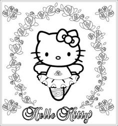 Hello Kitty coloring page with many lovely roses and Hello Kitty as a balerina. Free printable Hello Kitty Coloring Pages. Ballerina Coloring Pages, Dance Coloring Pages, Easter Coloring Pages, Coloring Pages For Girls, Cool Coloring Pages, Cartoon Coloring Pages, Christmas Coloring Pages, Coloring Pages To Print, Free Printable Coloring Pages