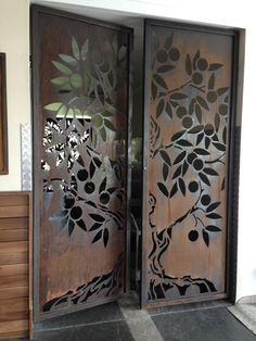 Ideas Metal Screen Design Glasses For 2019 Steel Gate Design, Front Gate Design, Door Gate Design, Main Door Design, Screen Design, Metal Screen, Black Screen, Cnc Cutting Design, Decorative Screens