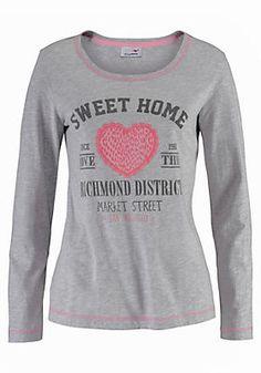 neighborhood Pullover Damen-Strickpullover mit Lucky-Print Sweater Rundhals