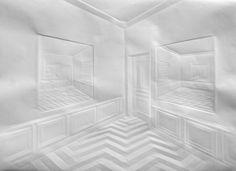 Les tableaux de papier de Simon Schubert